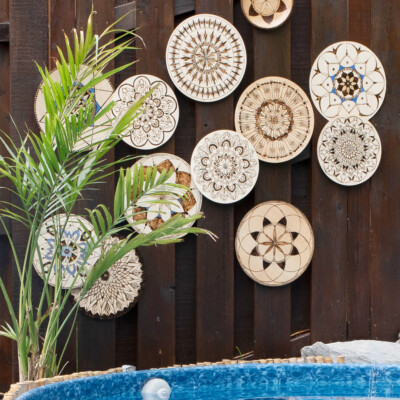 DIY outdoor art for our fence