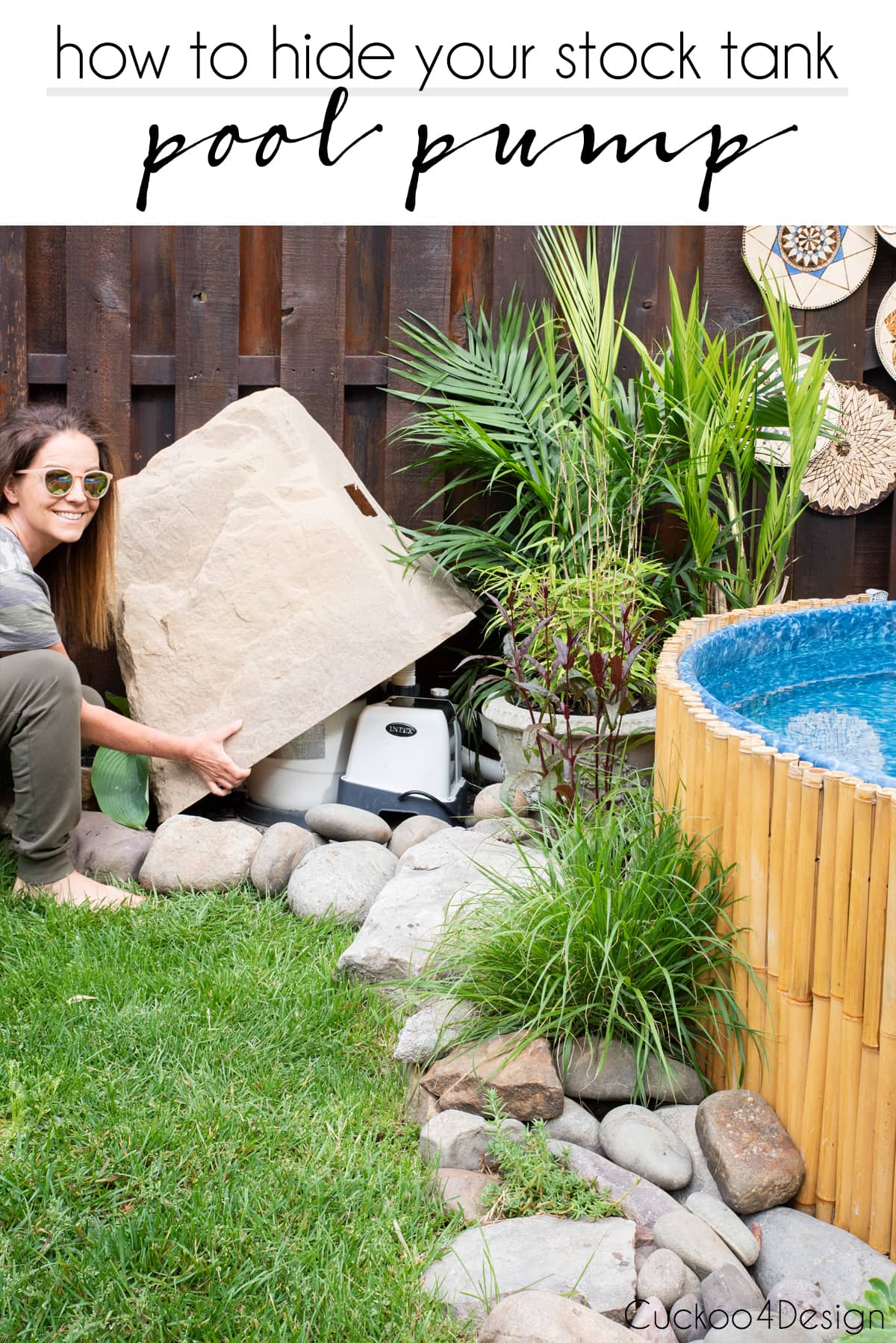 How to hide your stock tank pool pump with the perfect pool pump cover
