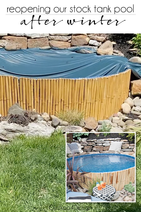 opening stock tank pool with liner after winter