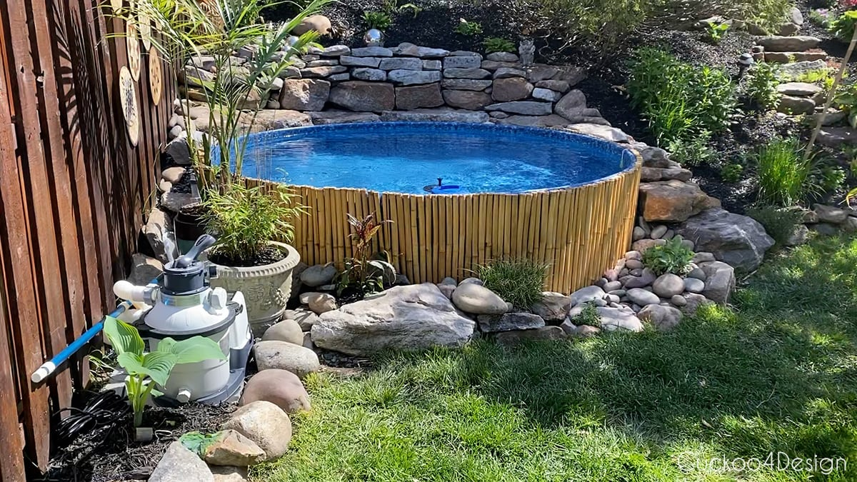 fixed stock tank pool back up running for the summer