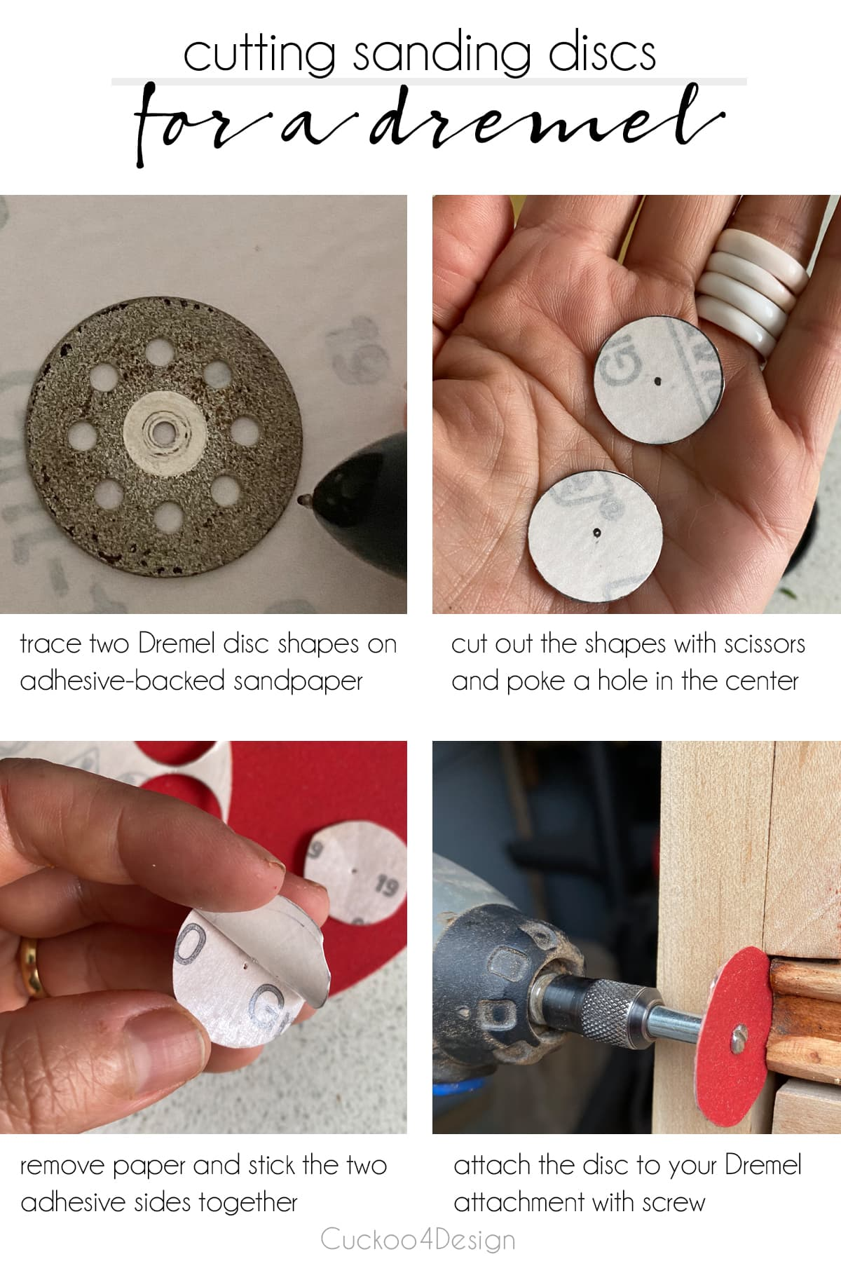 How to cutting Dremel sanding discs for easy detail sanding