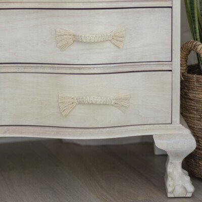 Super easy and cheap DIY macrame dresser drawer pulls