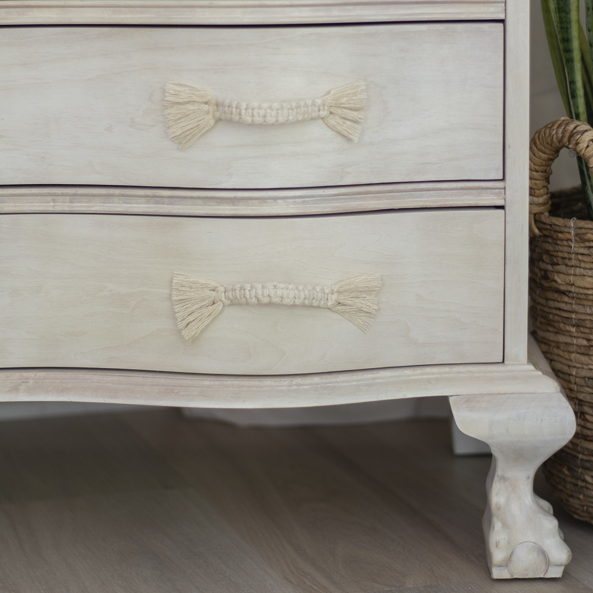 Super Easy And Cheap Diy Macrame Dresser Drawer Pulls Cuckoo4design