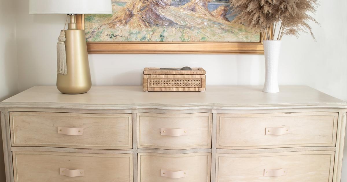 French Provincial Wood Bleach Dresser Makeover Cuckoo4design