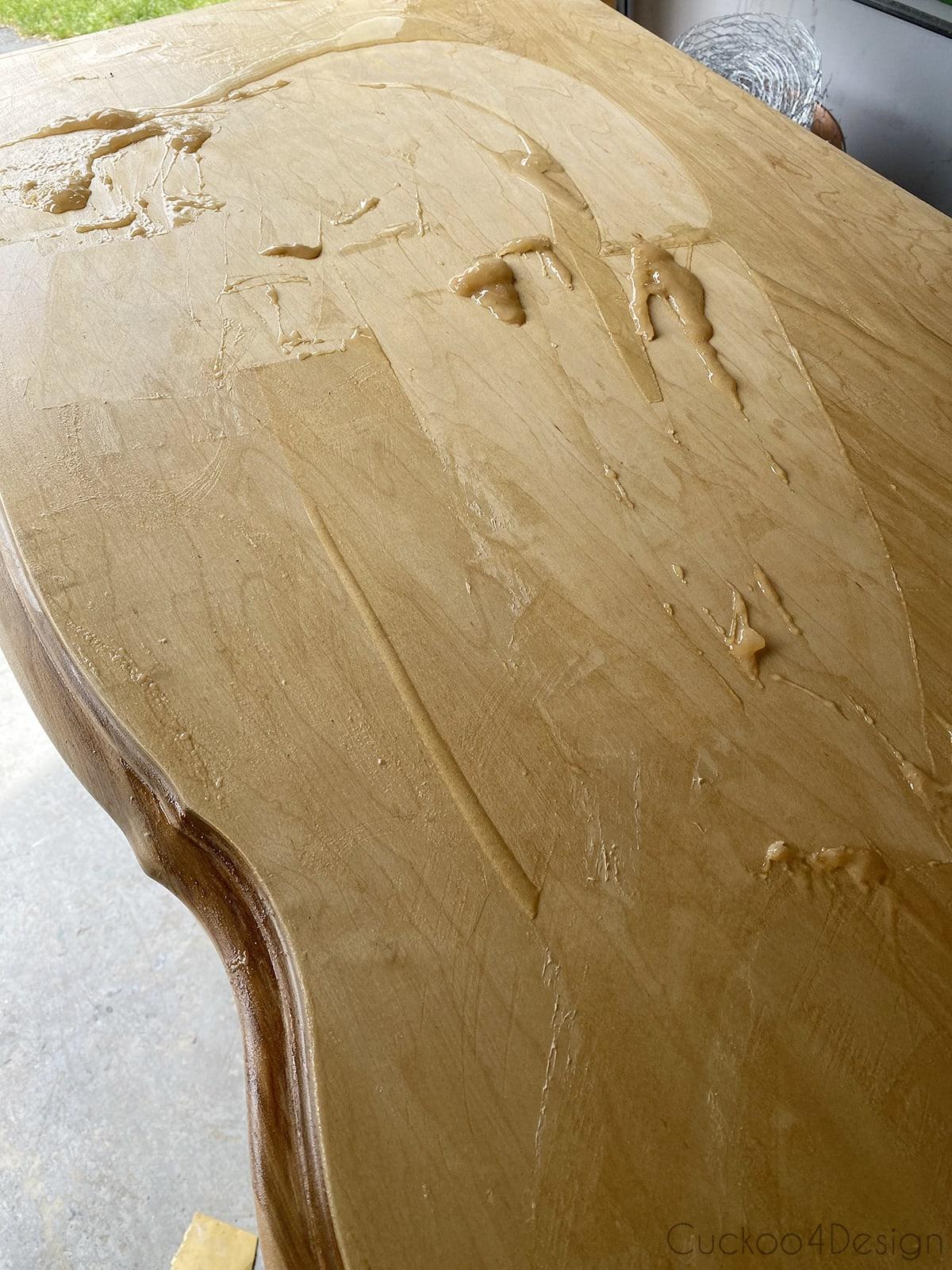 stripping off more varnish