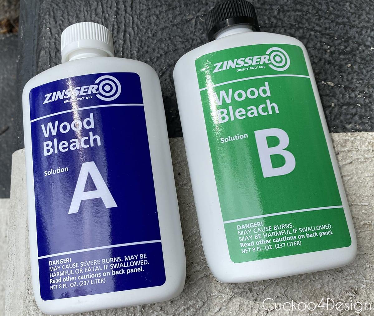 Zinsser part A wood bleach and part B wood bleach