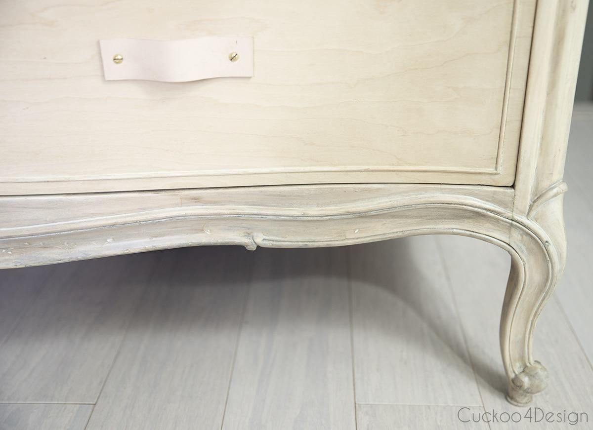 feet of wood bleached dresser