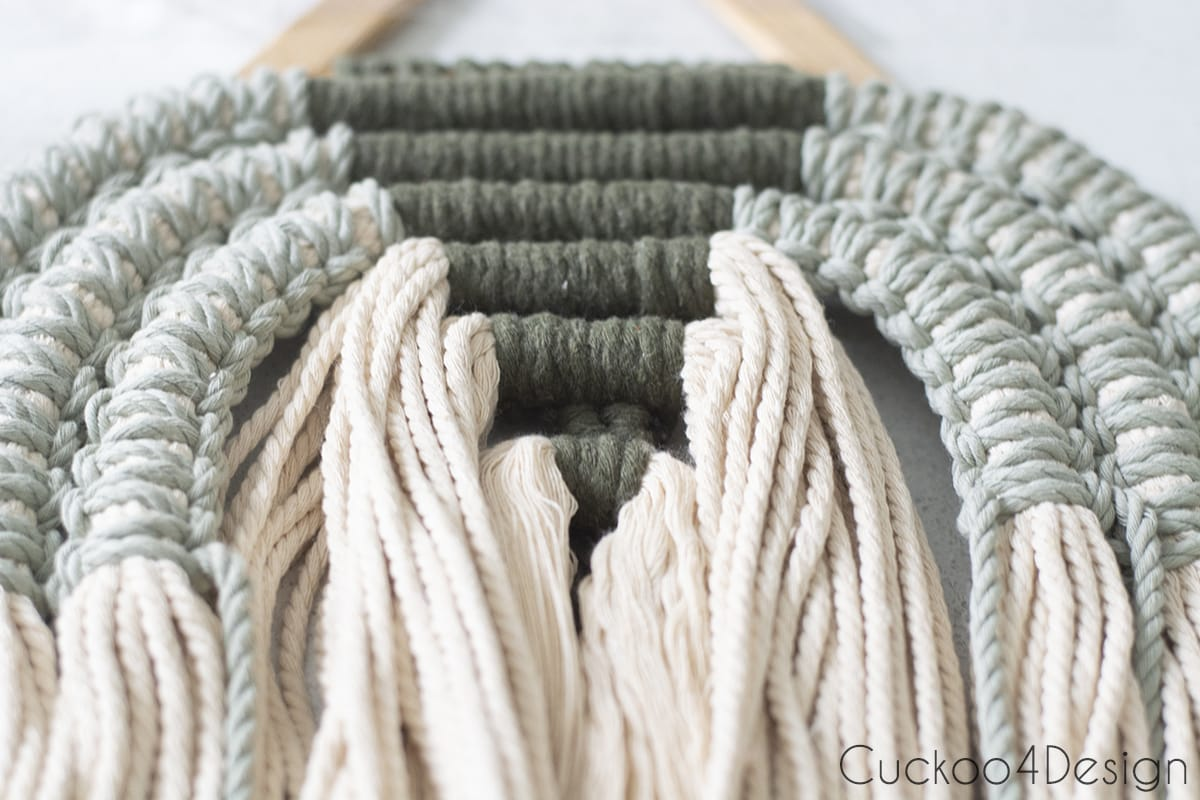 6 strands of square knots