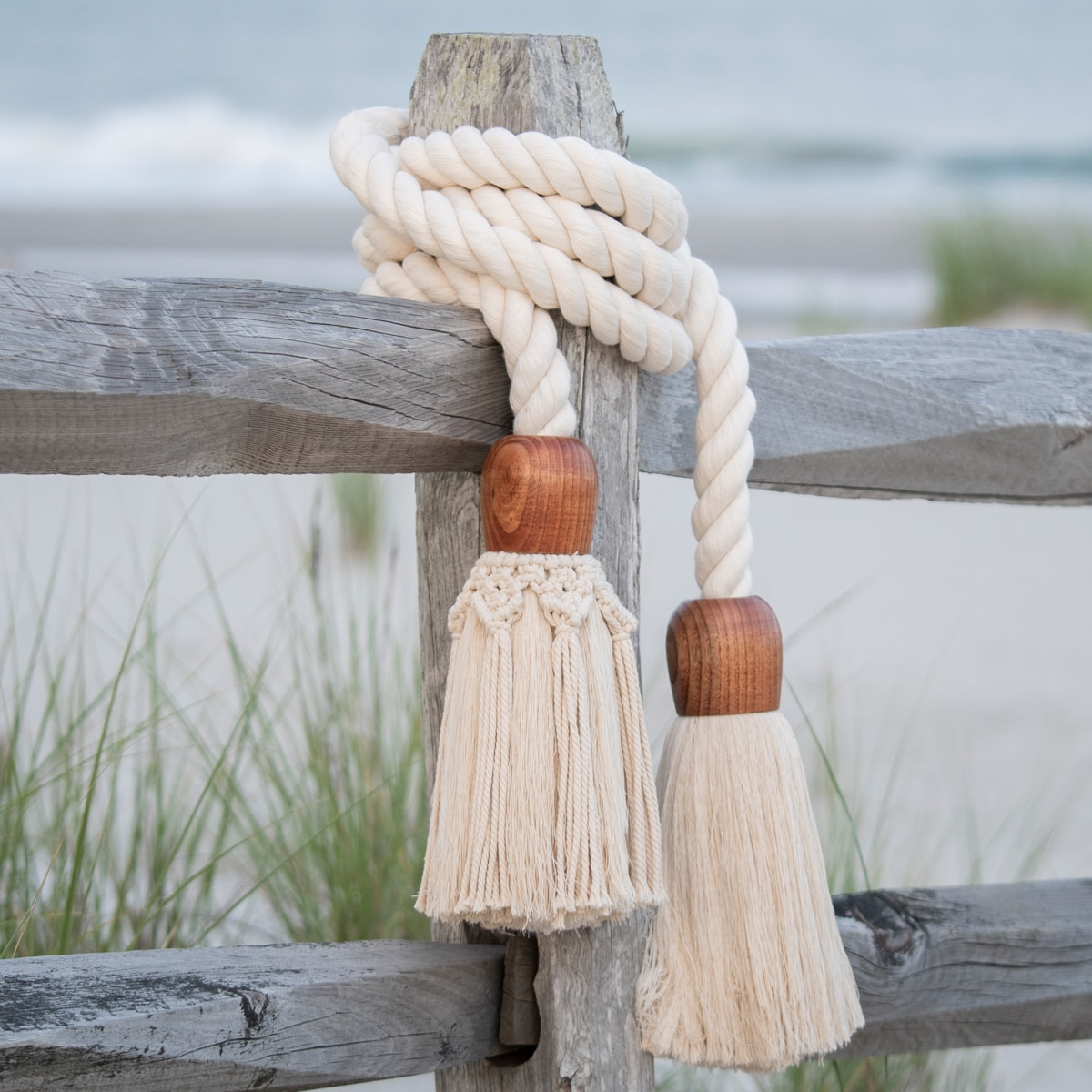 How to make a giant cotton rope macrame tassel garland
