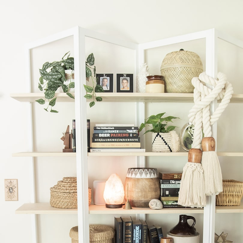 Replacing glass shelves with wood for a new look