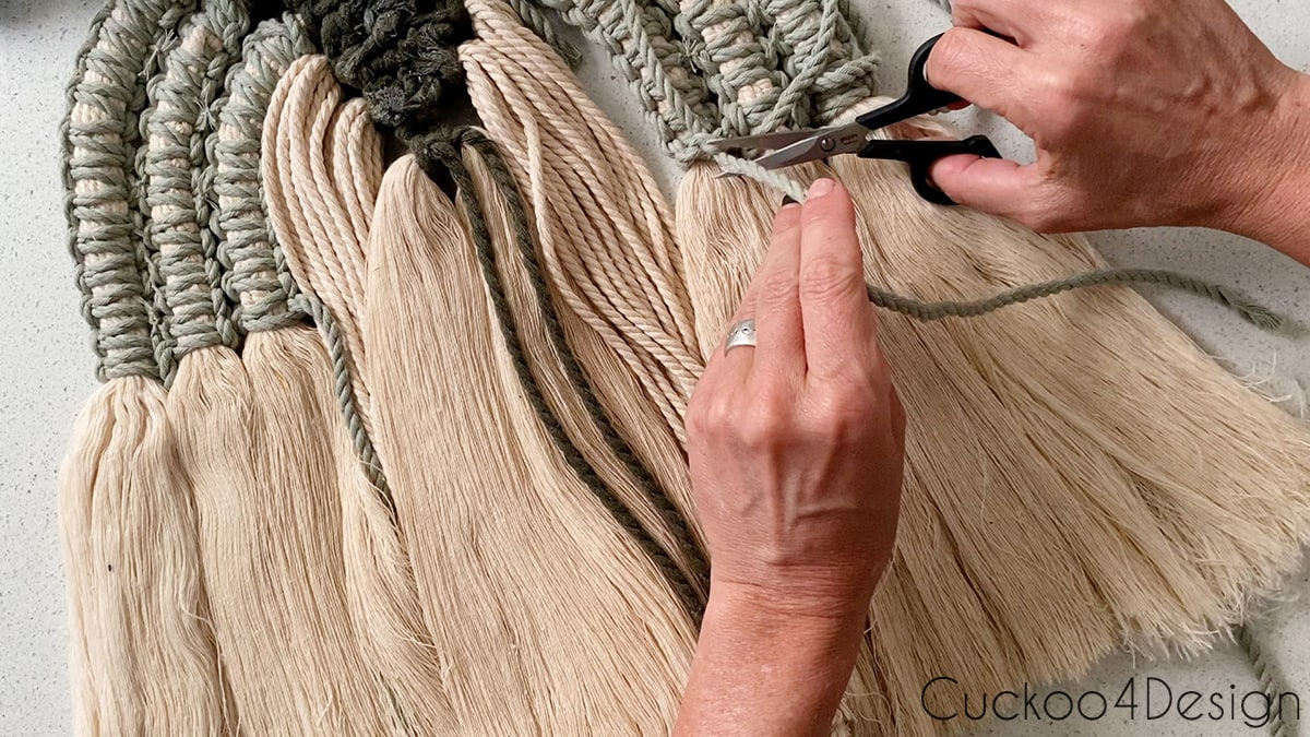 cutting the strands of the knots