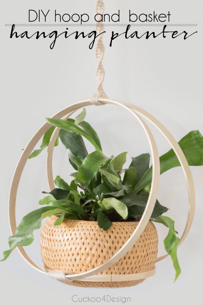 DIY hoop macrame plant hanger
