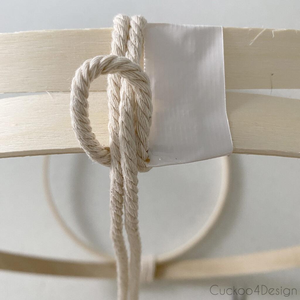 first lark's head knot