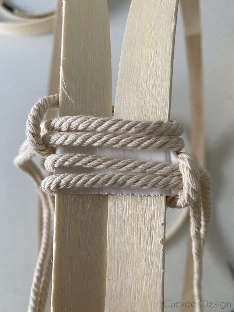 two lark's head knots
