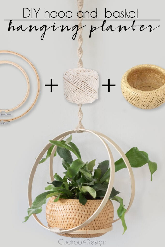 how to make a hanging basket using hoops