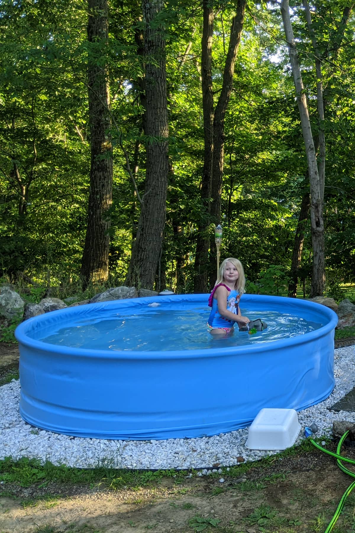stock tank pool idea lined with pool liner only