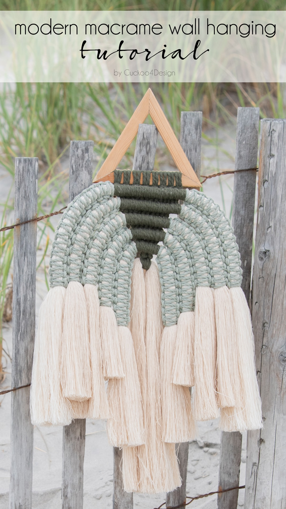 how to make a unique modern macrame wall hanging