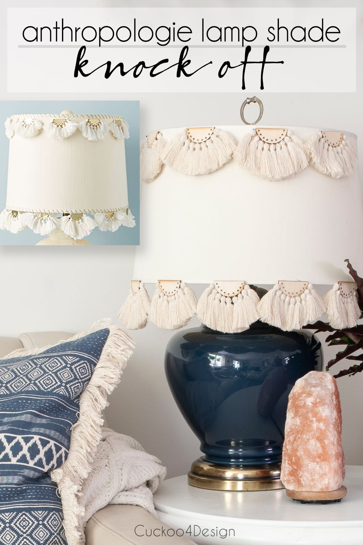 half-moon tassel embellished anthropology lampshade knock off
