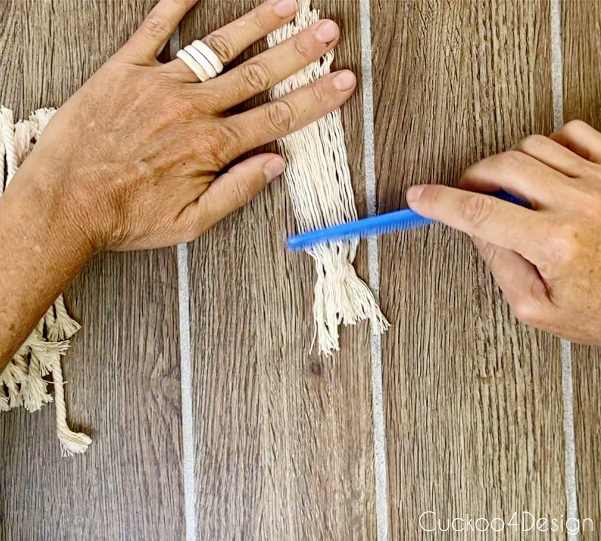 combing macrame yarn