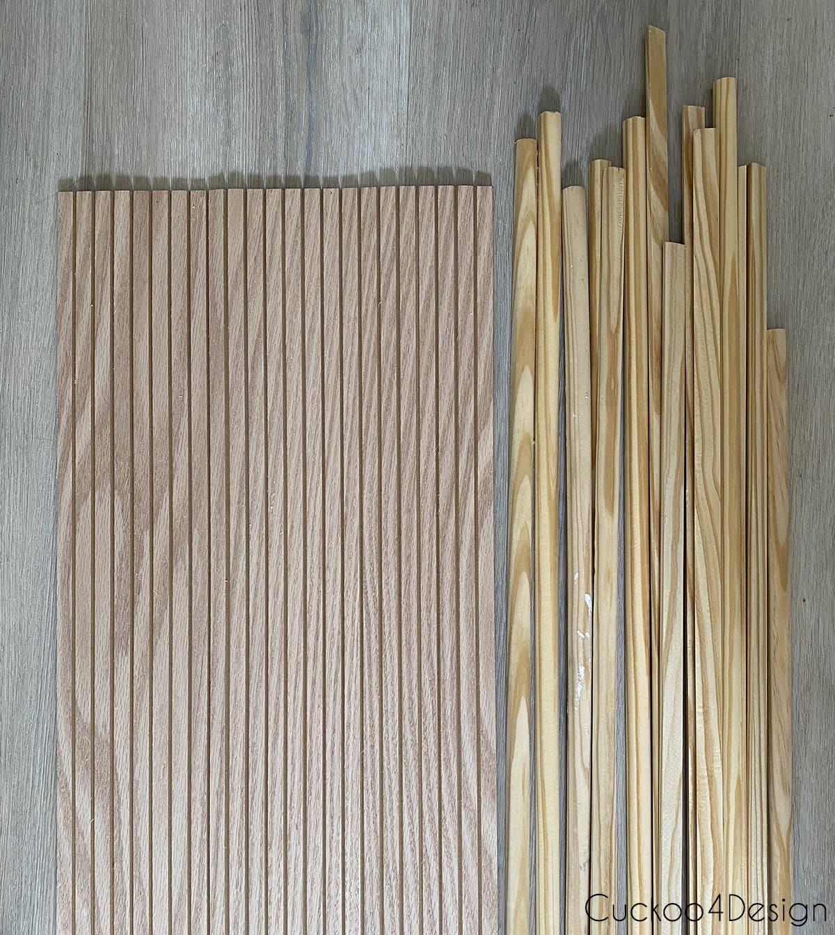 oak pole wrap compared to pine half-round molding
