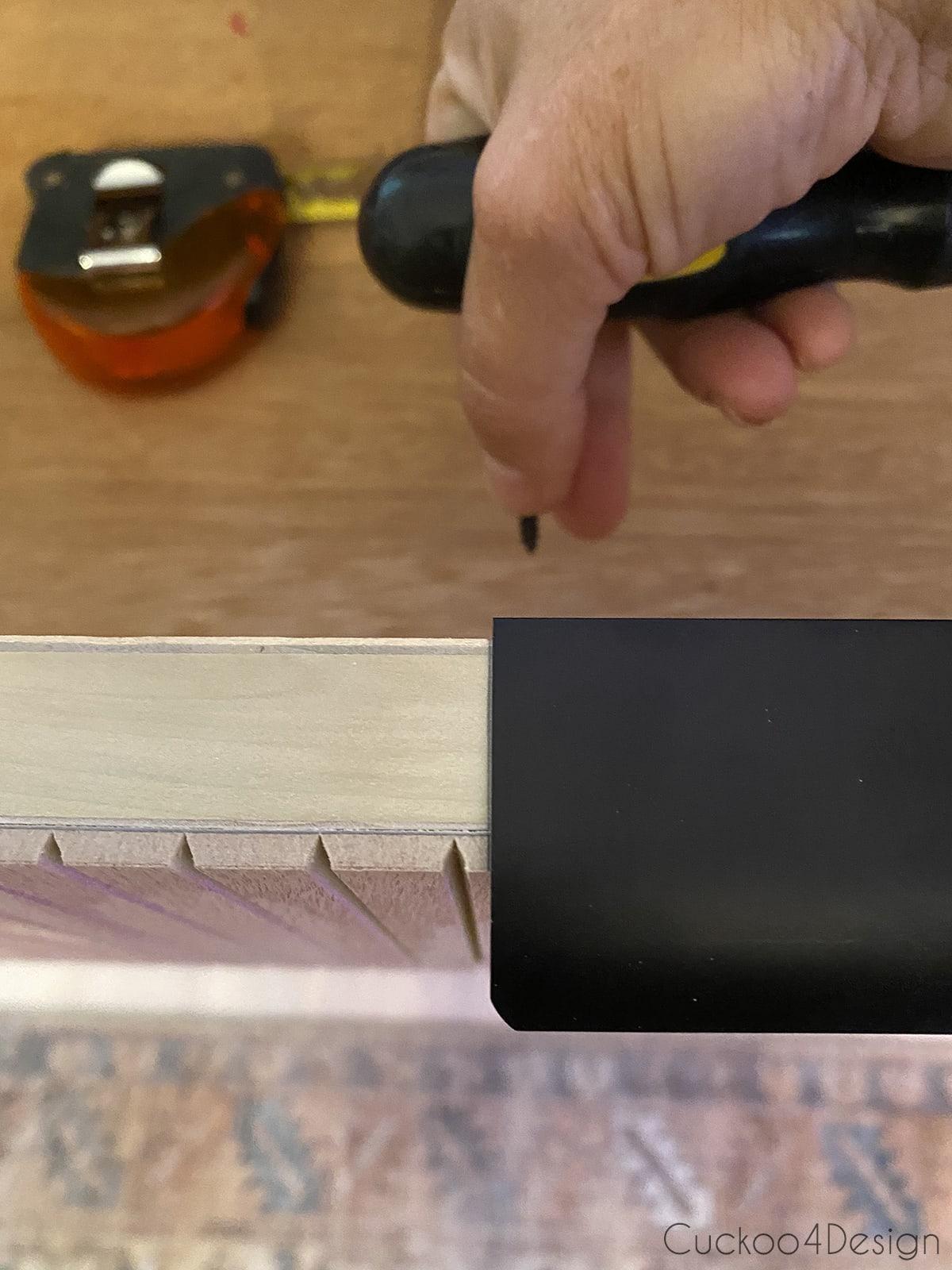 attaching edge pulls to drawers