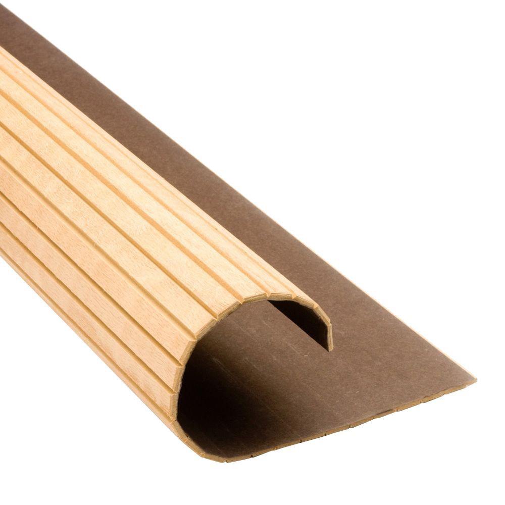 oak pole wrap that looks like fluted molding