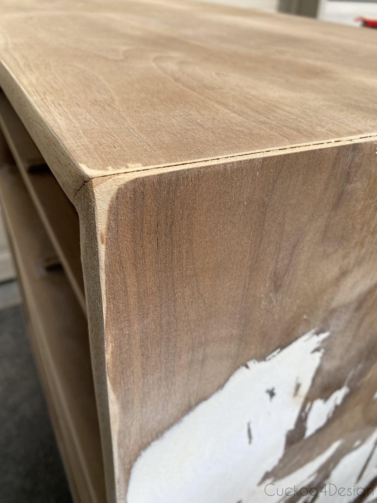 chipped veneer corners