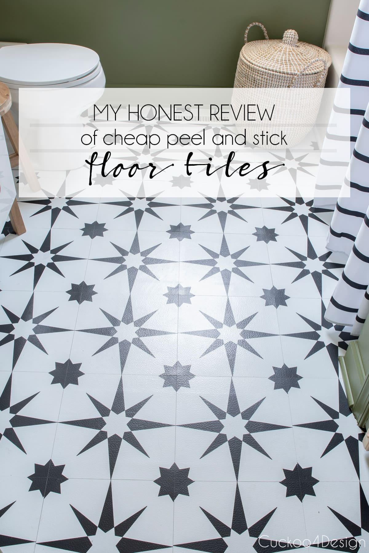 honest review of cheap peel and stick floor tile