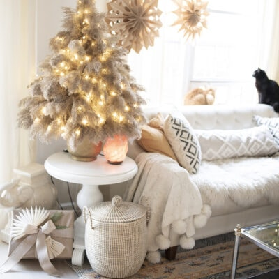 stylish boho DIY pampas grass Christmas tree