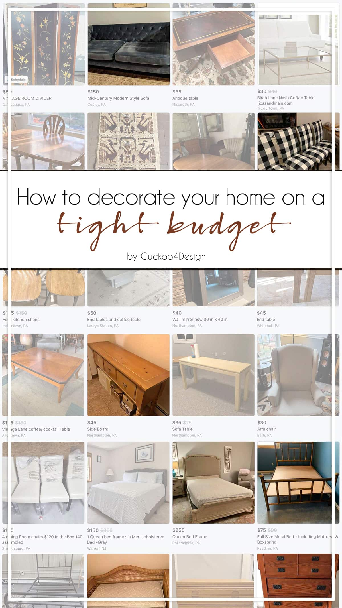 How to decorate your home on a tight budget