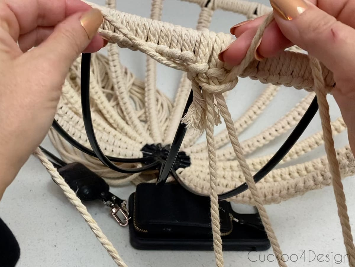 pulling the Square Knot tight