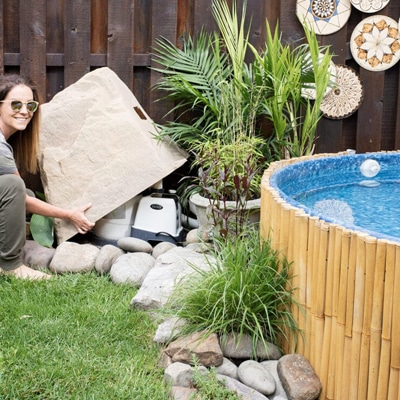 The perfect stock tank pool pump cover
