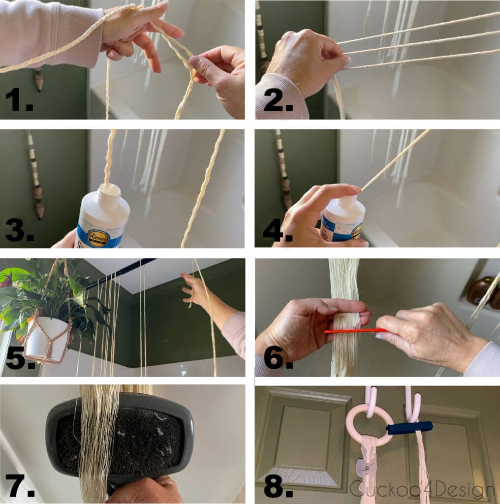 How to easily unravel and comb macrame yarn