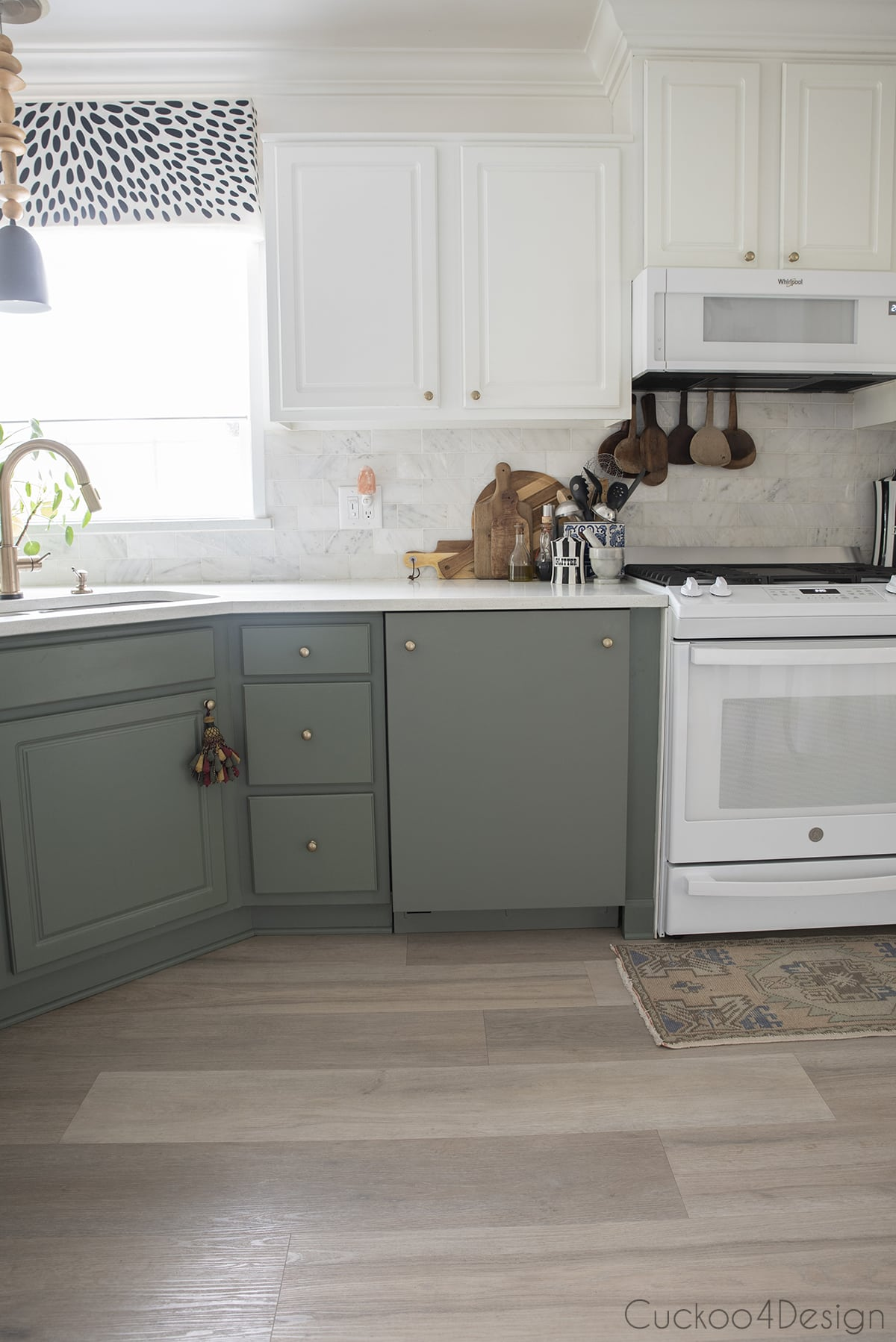 front view of our custom green dishwasher
