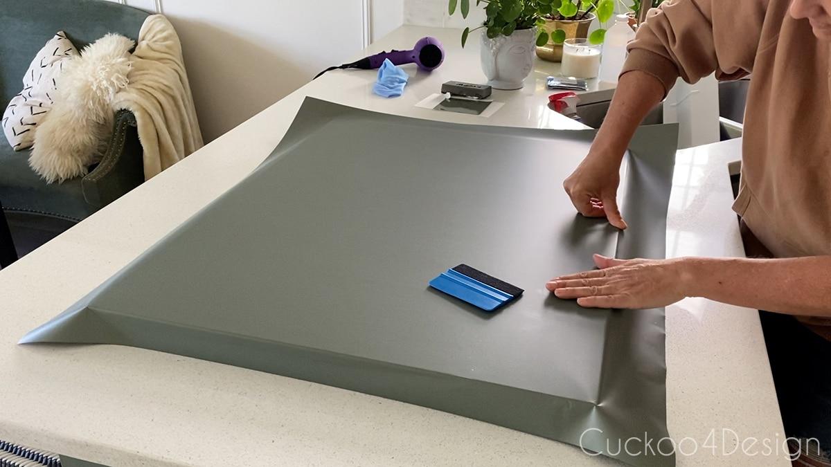 smoothing out edges on dishwasher panel