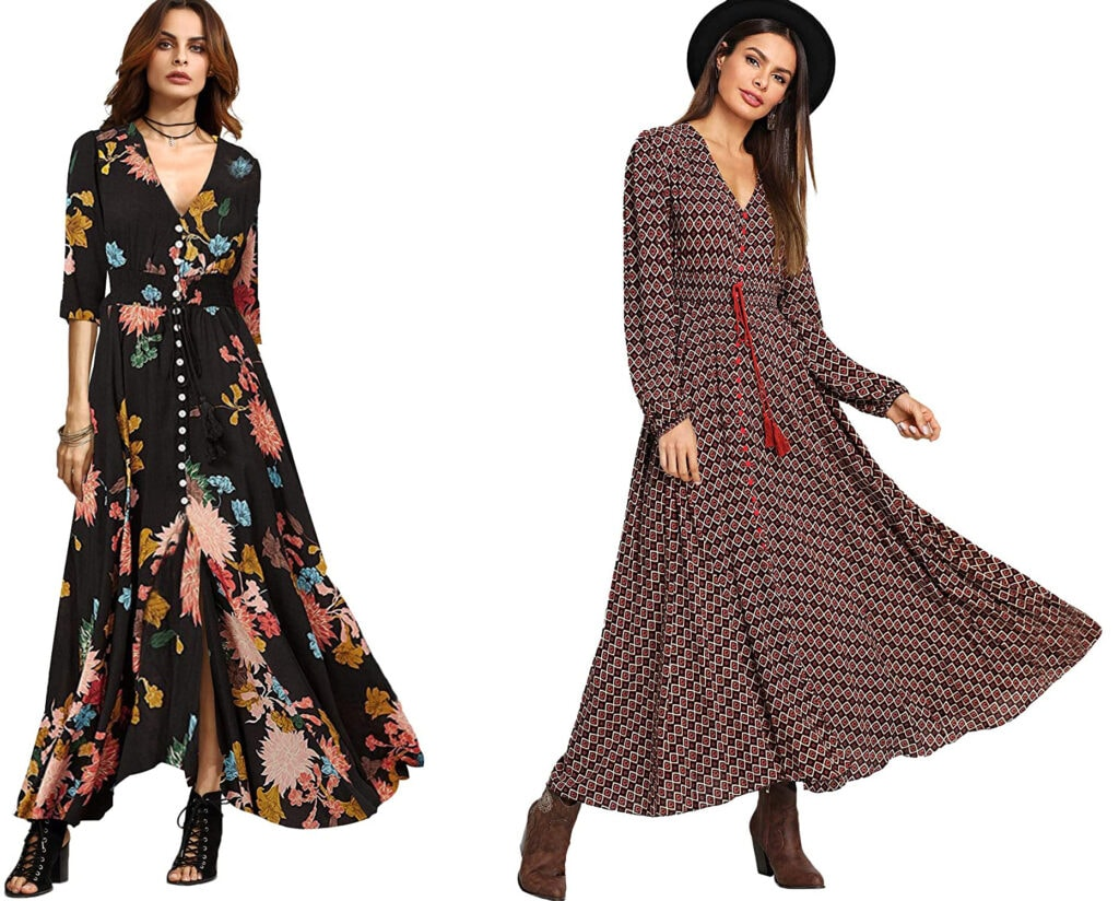 2 casual maxi dresses from Amazon that I own