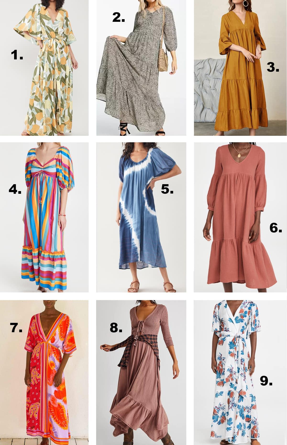 9 casual summer maxi dresses