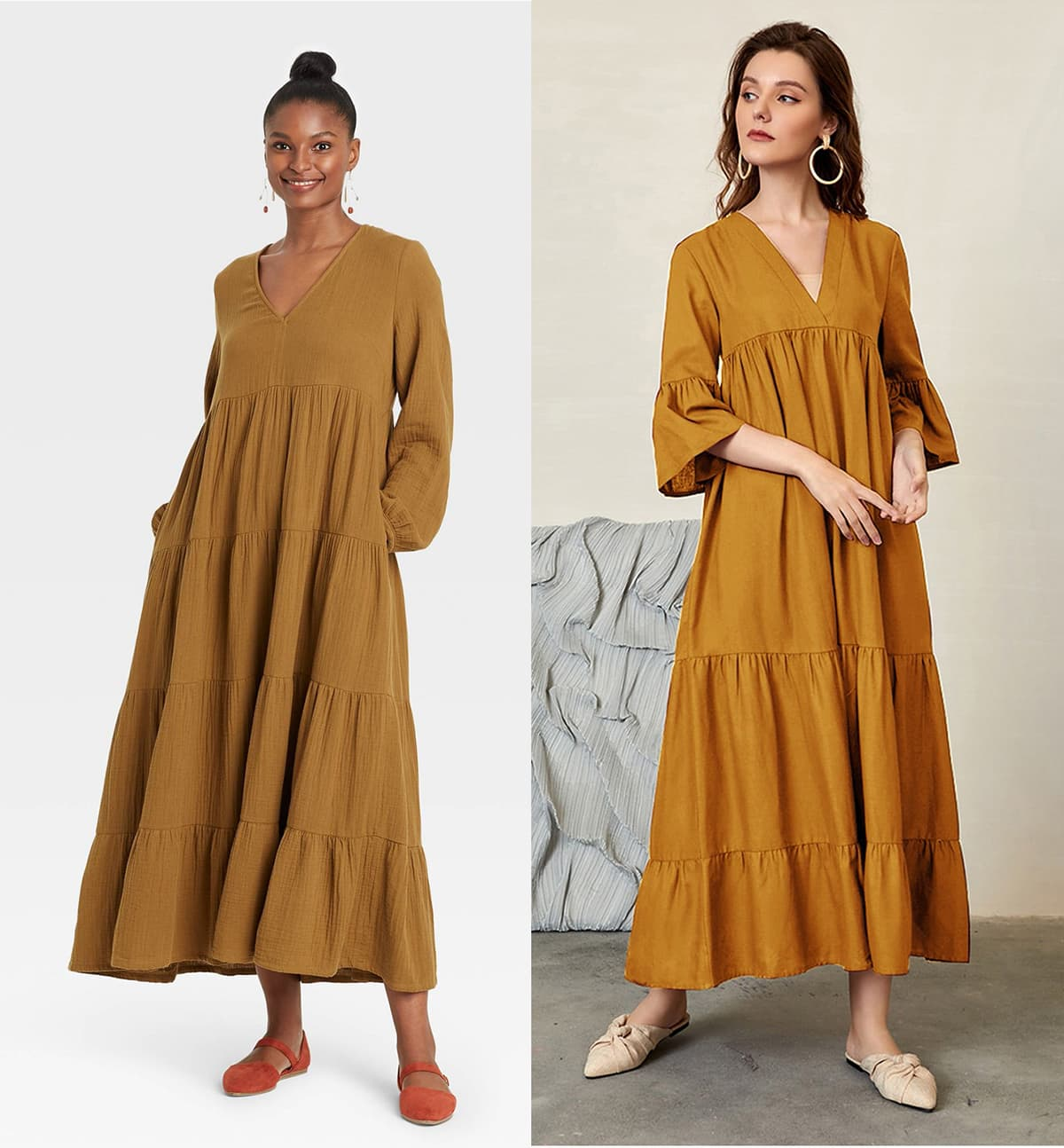 long tiered dresses