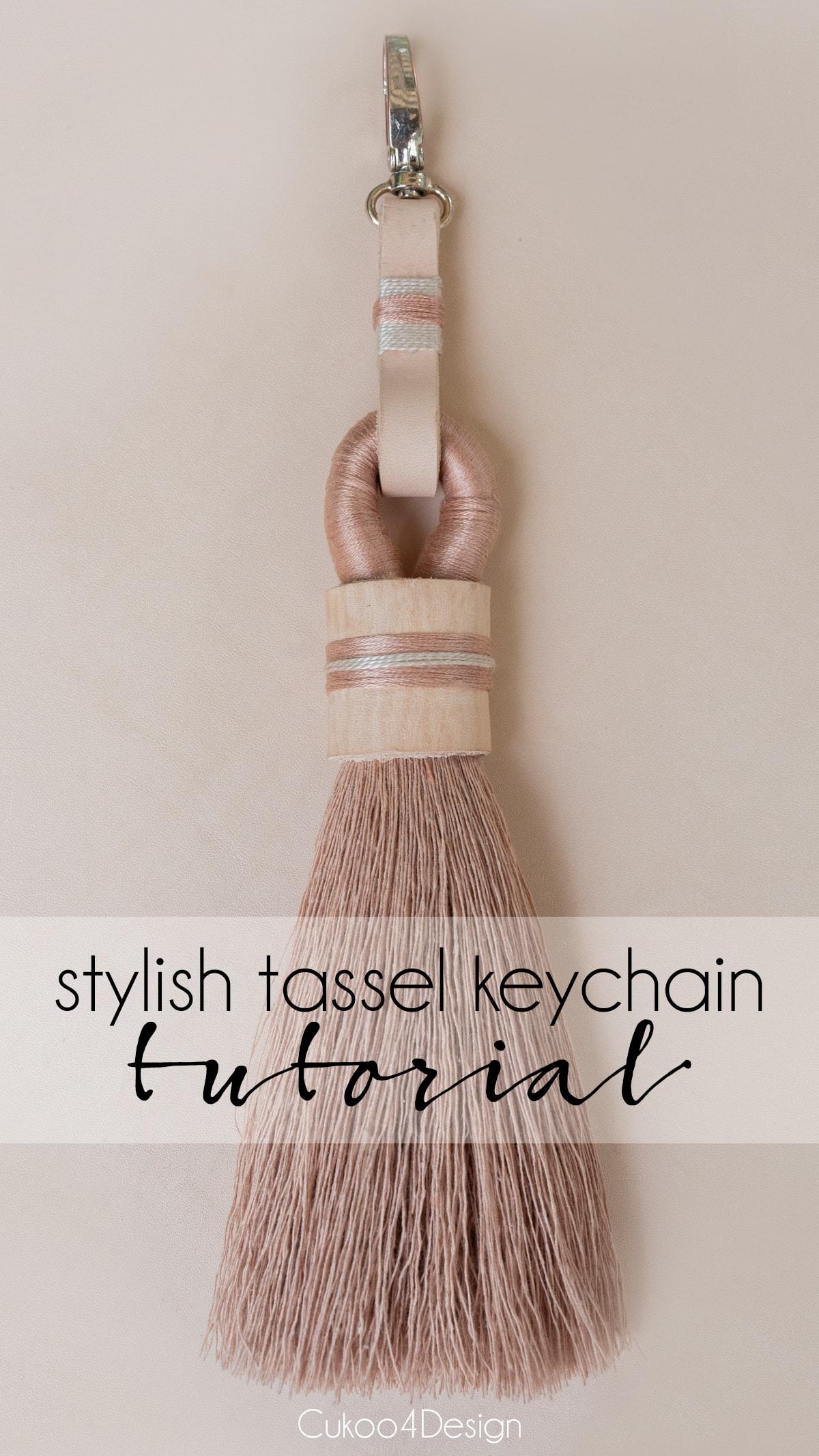 stylish tassel keychain DIY tutorial