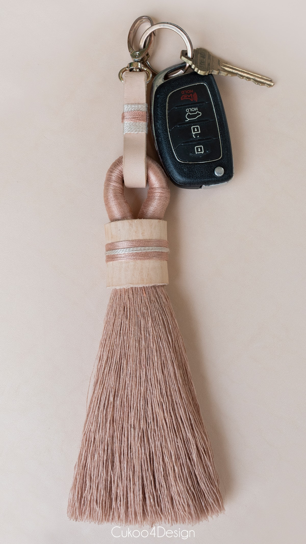 tassel keychain with keys