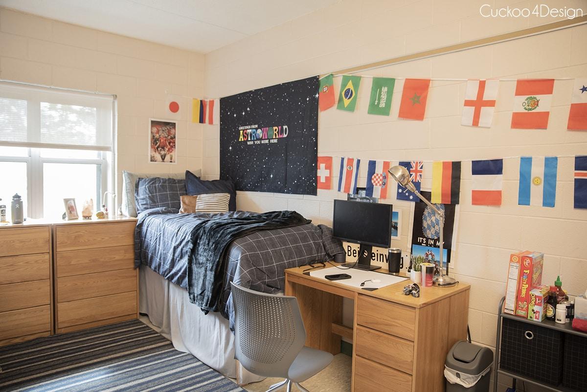 full view of James White Hall Temple University dorm room tour