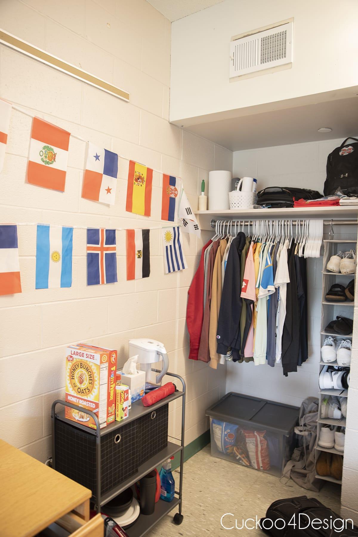 White Hall dorm closet