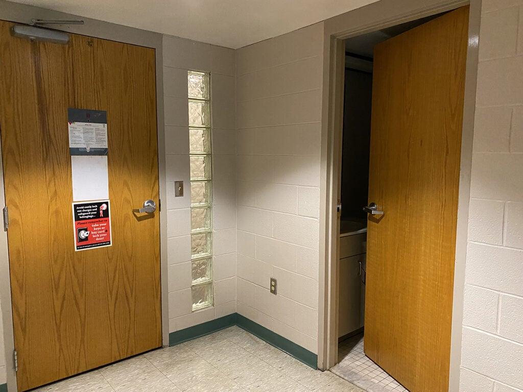 dorm room entry way