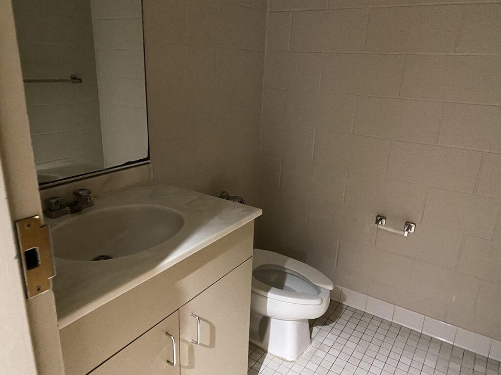 White Hall dorm toilet