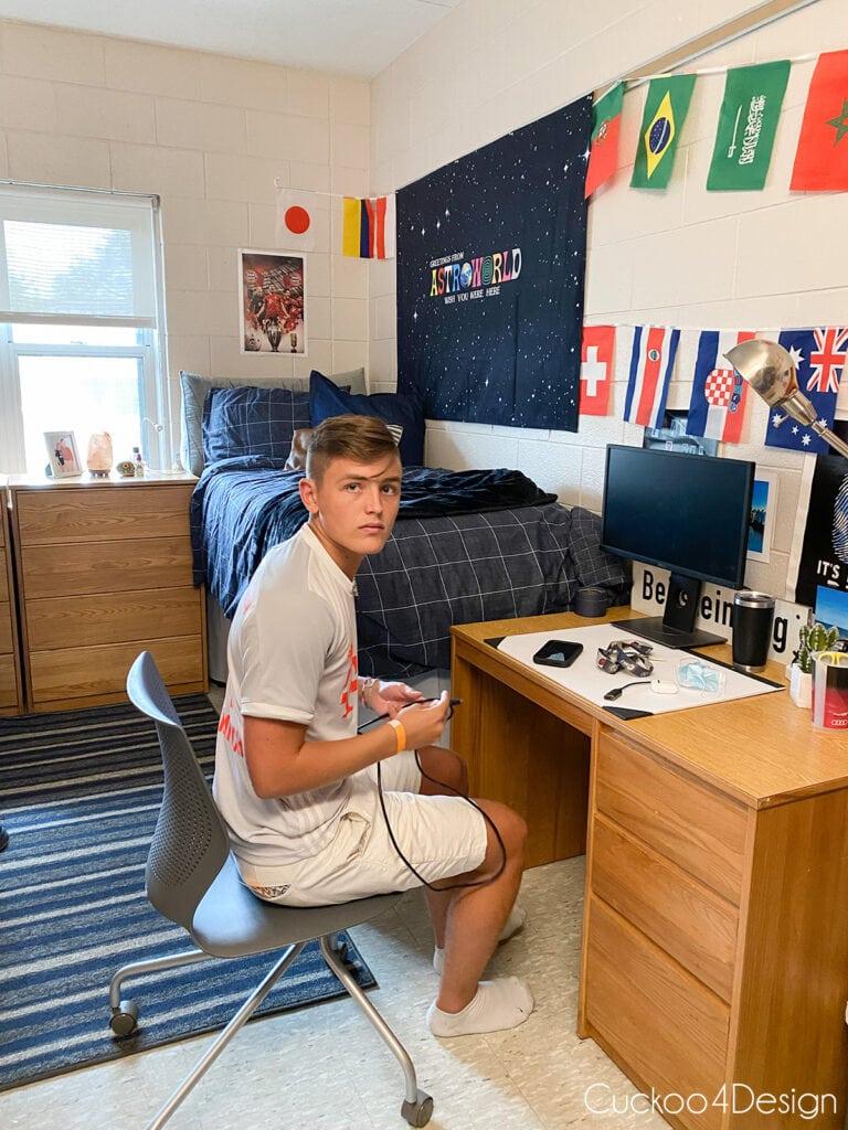 our son's Temple University dorm room